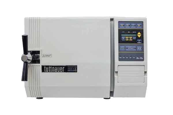 Refurbished Tuttnauer 2340EA Autoclave for sale - Extra large desktop sterilizer no plumbing needed - front view